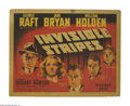 "Movie Posters:Crime, Invisible Stripes (Warner Brothers, 1939). Title Lobby Card (11"" X14""). George Raft stars as a former convict trying to kee..."