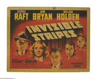 """Invisible Stripes (Warner Brothers, 1939). Title Lobby Card (11"""" X 14""""). George Raft stars as a former convict..."""