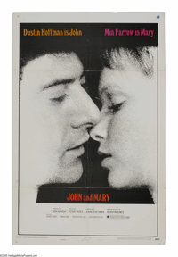 "John and Mary (20th Century Fox, 1969). One Sheet (27"" X 41""). The title characters, played by Dustin Hoffman..."