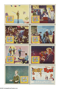 """Just for Fun (Columbia, 1963). Lobby Card Set of 8 (11"""" X 14""""). British teenagers try to get the vote with the..."""
