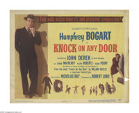 """Knock on Any Door (Columbia, 1949). Title Lobby Card (11"""" X 14""""). Nicholas Ray was given the opportunity to di..."""