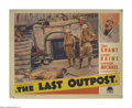 "Movie Posters:Adventure, The Last Outpost (Paramount, 1935). Lobby Card (11"" X 14""). WWIBritish officer Cary Grant falls in love with the wife of th..."