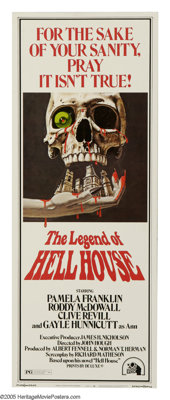 "The Legend Of Hell House (Twentieth Century Fox, 1973). Insert (14"" X 36""). ""The house tried to kill me..."