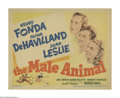 """Movie Posters:Comedy, The Male Animal (Warner Brothers, 1942). Title Lobby Card (11"""" X 14""""). Professor Tommy Turner (Henry Fonda) believes in the ..."""