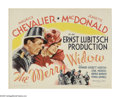 """Movie Posters:Musical, The Merry Widow (MGM, R-1962). Half Sheet (22"""" X 28""""). """"Have you ever had diplomatic relations with a woman?"""" When the large..."""