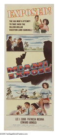"Movie Posters:Crime, Miami Expose (Columbia, 1956). Insert (14"" X 36""). Lee J. Cobb is a hard-nosed police detective trying to bring down the mob..."