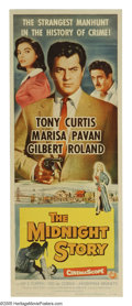 "Movie Posters:Crime, The Midnight Story (Universal International, 1957). Insert (14"" X 36""). Traffic cop Joe Martini (Tony Curtis) is so determin..."