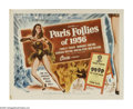"Movie Posters:Musical, Paris Follies of 1956 (Allied Artists, 1956). Half Sheet (22"" X 28""). A revue at the Moulin Rouge is the setting for this li..."