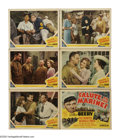 "Movie Posters:War, Salute to the Marines (MGM, 1943). Title Lobby Card (11"" X 14"") andLobby Cards (5) (11"" X 14""). Wallace Beery is the epitom... (Total:6 Items)"