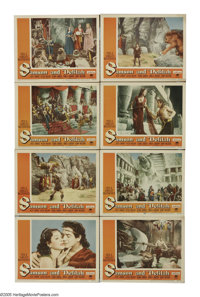 "Samson and Delilah (Paramount, 1949). Lobby Card Set of 8 (11"" X 14""). Cecil B. DeMille's Biblical epic retell..."