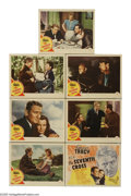 """Movie Posters:Drama, The Seventh Cross (MGM, 1944). Lobby Cards (7) (11"""" X 14""""). In Nazi Germany, a concentration camp commandant erects seven cr... (Total: 7 Items)"""