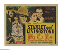 """Stanley and Livingston (20th Century Fox, 1939). Title Lobby Card (11"""" X 14""""). Spencer Tracy stars as Henry M..."""