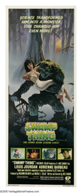 "Movie Posters:Horror, Swamp Thing (Embassy Pictures, 1982). Insert (14"" X 36""). A scientist (Ray Wise) working on a serum that is a combination of..."