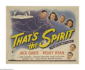 """Movie Posters:Comedy, That's the Spirit (Universal, 1945). Title Lobby Card (11"""" X 14""""). Steve Gogarty (Jack Oakie), a vaudevillian who has died s..."""