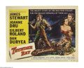 """Movie Posters:Adventure, Thunder Bay (Universal International, 1953). Title Lobby Card (11""""X 14""""). James Stewart and director Anthony Mann reteam fo..."""