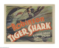 "Movie Posters:Drama, Tiger Shark (Warner Brothers-First National, 1932). Title Lobby Card (11"" X 14""). Exciting film about a love triangle on the..."