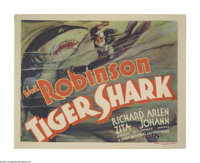 """Tiger Shark (Warner Brothers-First National, 1932). Title Lobby Card (11"""" X 14""""). Exciting film about a love t..."""