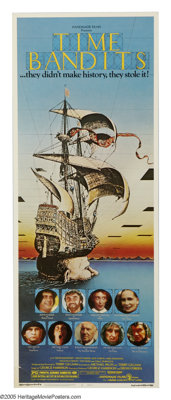 """Time Bandits (Embassy, 1981). Insert (14"""" X 36""""). Produced and directed by Monty Python alum Terry Gillium and..."""