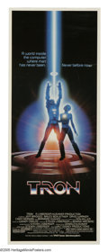"Movie Posters:Science Fiction, Tron (Buena Vista, 1982). Insert (14"" X 36""). In the nascent daysof video games, this cult film celebrated the possibilitie..."
