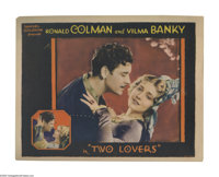 """Two Lovers (United Artists, 1928). Lobby Card (11"""" X 14""""). Another of Goldwyn's successful pairings of Ronald..."""