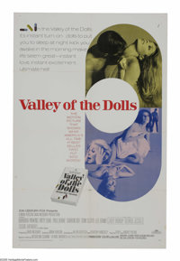 "Valley of the Dolls (20th Century Fox, 1967). One Sheet (27"" X 41""). Three young women (Barbara Parkins, Patty..."