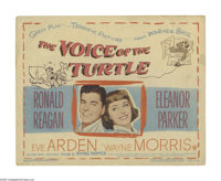 """Voice of the Turtle (Warner Brothers, 1948). Title Lobby Card (11"""" X 14""""). Ronald Reagan and Eleanor Parker st..."""
