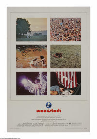 """Woodstock (Warner Brothers, 1970). One Sheet (27"""" X 41""""). Billed as """"3 Days of Peace and Love"""" the o..."""