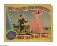 """You'll Never Get Rich (Columbia, 1941). Lobby Card (11"""" X 14""""). This is the first musical pairing of Fred Asta..."""