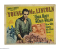 """Movie Posters:Drama, Young Mr. Lincoln (20th Century Fox, 1939). Title Lobby Card (11"""" X 14""""). The tale of the early years of Abraham Lincoln, wi..."""