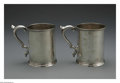 Silver & Vertu:Hollowware, A Pair Of American Silver Canns. Mark of W. Carrington, Charleston, SC, Mid-Nineteenth Century. The coin silver canns with... (Total: 2 Items Item)