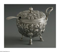 Silver & Vertu:Hollowware, An American Silver Mustard Pot And Spoon. Mark of Dominick & Haff, New York, NY, Late Nineteenth Century. The footed flora... (Total: 1 Item Item)