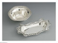 Silver Holloware, American:Bowls, An American Silver Bowl And Bread Tray. Mark of Durgin, Concord,NH; and Smith Patterson, Boston, MA, Late Nineteenth Centur...(Total: 2 Items)