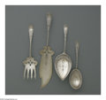Silver Flatware, American:Whiting, An American Silver Fish Serving Set, Pie Server And Serving Spoon.Mark of Whiting Manufacturing Co., Providence, RI, Late N...(Total: 4 Items)
