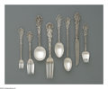 Silver Flatware, American:Gorham, An American Silver Flatware Set. Mark of Gorham, Providence, RI,1888. The 'Versailles' set includes eleven dinner knives,...(Total: 121 Items)