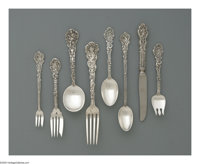 An American Silver Flatware Set Mark of Gorham, Providence, RI, 1888  The 'Versailles' set includes eleven dinner knives...