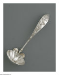 Silver Flatware, American:Gorham, An American Silver Ladle. Mark of Gorham, Providence, RI, LateNineteenth Century. The ladle decorated with applied raspbe...