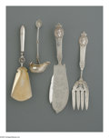 Silver Flatware, American:Coin Silver, Four American Silver Serving Pieces. Marks of Gorham, Providence,RI; and Unknown maker, Late Nineteenth Century. The Gorh... (Total:4 Items)