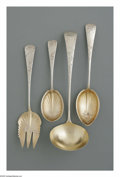Silver Flatware, American:Gorham, Four American Silver Serving Pieces. Mark of Gorham, Providence,RI, Late Nineteenth Century. The engraved 'Rose' pattern ...(Total: 4 Items)