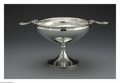 Silver & Vertu:Hollowware, An American Silver Compote. Mark of Gorham, Providence, RI, 1872. The double-handled compote with monogram to the foot C...