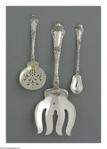 Silver Flatware, American:Gorham, An American Silver Cold Meat Fork, Cucumber Server and an OliveSpoon Mark of Gorham, Providence, RI, c.1902 The group a... (3Items)