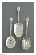 Silver Flatware, American:Tiffany, An American Silver Pie Server, Berry Scoop, and Egg Server Marks ofGorham, Providence, RI; and Tiffany & Co., New York, NY... (3Items)