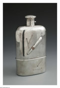 Silver Holloware, American:Flasks, An American Silver Flask. Mark of Black, Starr & Frost, NewYork, NY, Late Nineteenth Century. The mixed metal canteen wit...