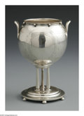 Silver Holloware, American:Other , An American Coin Silver Trophy. Mark of Gorham, Providence, RI,Mid-Nineteenth Century. The circular bowl supported on thr...