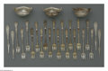 Silver & Vertu:Flatware, A Group Of American Silver Cocktail Forks, Nut Picks And Nut Dishes. Marks of Gorham, Providence, RI; Alvin Corporation, Pro... (Total: 24 Items Item)