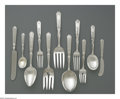 Silver Flatware, American:Gorham, An American Silver Flatware Set and Case. Mark of Gorham,Providence, RI, 1917. The 'St. Dunstan-Chased' pattern set inclu...(Total: 105 Items)