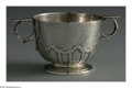 Silver Holloware, American:Bowls, An American Silver Bowl. Mark of Gorham, Providence, RI, 1923. The'Arts & Crafts' double-handled hand-hammered cup, monog...