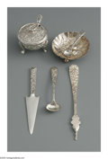 Silver Holloware, American:Open Salts, Seven American Silver Serving Pieces. Mark of S. Kirk & SonInc., Baltimore, MD, Late Nineteenth Century. The 'Repousse' p...(Total: 8 Items)