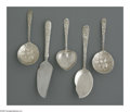 Silver Flatware, American:Kirk, Five American Silver Serving Pieces. Mark of S. Kirk & Son,Baltimore, MD, Early Twentieth Century. The 'Repousse' pattern...(Total: 5 Items)
