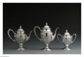 Silver Holloware, American:Tea Sets, An American Silver Tea Set. Mark of R. Blackinton & Co., NorthAttleboro, MA, Mid-Twentieth Century. The set comprising a ...(Total: 3 Items)
