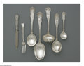 Silver Flatware, American:Tiffany, A Group Of American Silver Flatware. Mark of Tiffany & Co., NewYork, NY, Late Nineteenth Century. The group comprises a s...(Total: 7 Items)